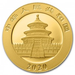 Panda 2020 3g arany pénzérme
