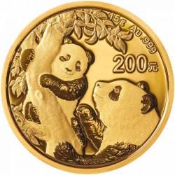 Panda 2021 15g arany pénzérme
