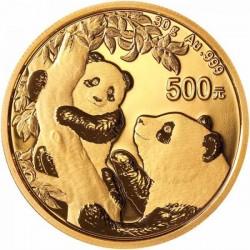Panda 2021 30g arany pénzérme