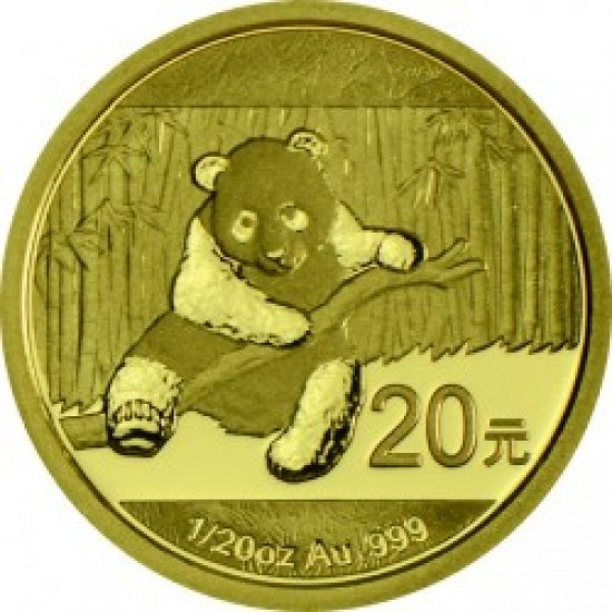 Panda 2014 1/20 uncia arany pénzérme
