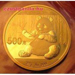 Panda 2017 30g arany pénzérme