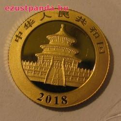Panda 2018 3g arany pénzérme