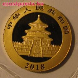 Panda 2018 8g arany pénzérme