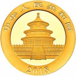 Panda 2018 30g arany pénzérme