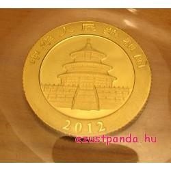Panda 2012 1/10 uncia arany pénzérme