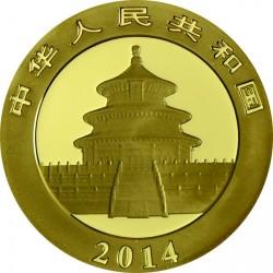 Panda 2014 1/4 uncia arany pénzérme