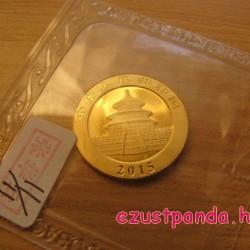 Panda 2015 1/10 uncia arany pénzérme