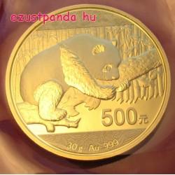 Panda 2016 30g arany pénzérme