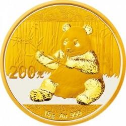Panda 2017 15g arany pénzérme