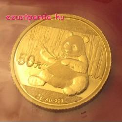 Panda 2017 3g arany pénzérme