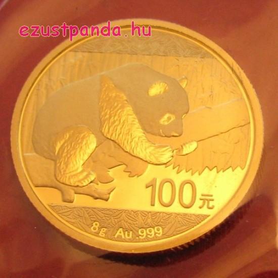 Panda 2016 8g arany pénzérme