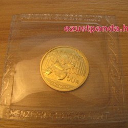 Panda 2014 1/10 uncia arany pénzérme