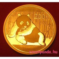 Panda 2014 1/2 uncia arany pénzérme