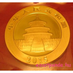 Panda 2015 1 uncia arany pénzérme