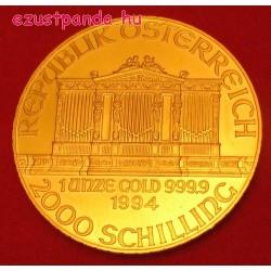 Philharmoniker 1 uncia arany pénzérme 2000 Schilling klf. évjárat