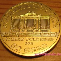 Philharmoniker 2021 1/2 uncia arany pénzérme