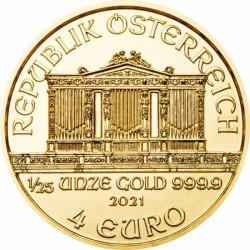 Philharmoniker 2021 1/25 uncia arany pénzérme