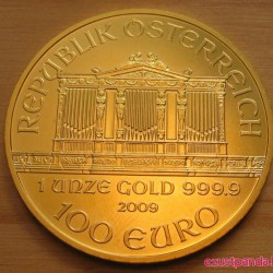 Philharmoniker 2021 1 uncia arany pénzérme