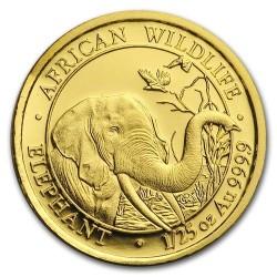Szomália Elefánt 2018 1/25 uncia arany pénzérme