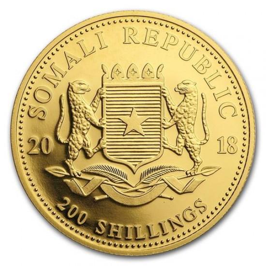 Szomália Elefánt 2018 1/4 uncia arany pénzérme