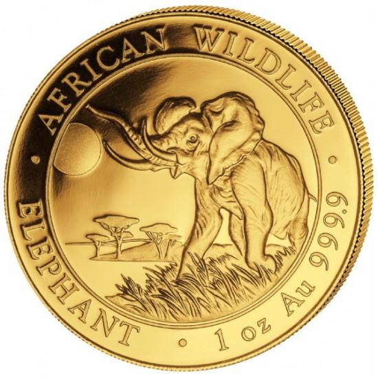 Szomália Elefánt 2016 1 uncia arany pénzérme
