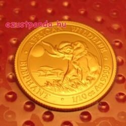 Szomália Elefánt 2016 1/10 uncia arany pénzérme