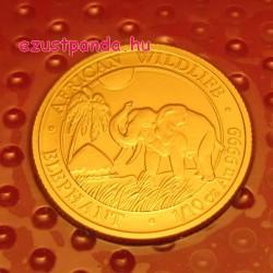 Szomália Elefánt 2017 1/10 uncia arany pénzérme