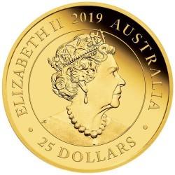 Ausztrál Sovereign 2019 proof arany pénzérme