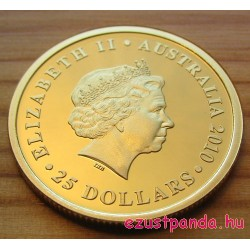 Ausztrál Sovereign 2010 proof arany pénzérme