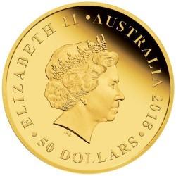 Ausztrál Dupla Sovereign 2019 proof arany pénzérme