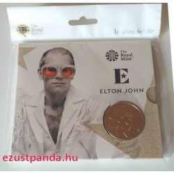 Elton John 2020 5 font réz-nikkel pénzérme
