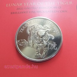 Lunar Tigris éve 2022 5 font brit réz-nikkel pénzérme