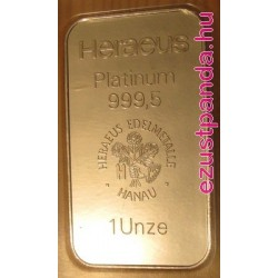 Platina rúd 1 uncia Argor-Heraeus (svájci)