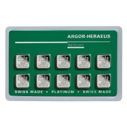 Platina 10x 1 gramm Multicard Argor-Heraeus (svájci)