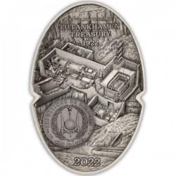 Tutankhamon fáraó maszkja 2022 3 uncia antikolt ezüst pénzérme - CSAK 1922 PÉLDÁNYBAN!