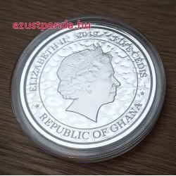 Leopárd 2019 1 uncia ezüst pénzérme Ghána
