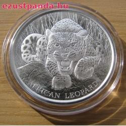 Leopárd 2017 1 uncia ezüst pénzérme Ghána
