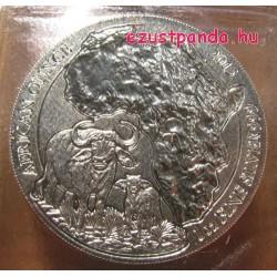 Ruanda Kafferbivaly 2015 1 uncia ezüst pénzérme