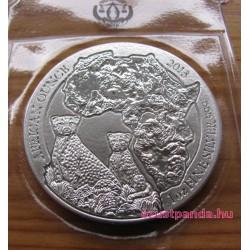 Ruanda Gepárd 2013 1 uncia ezüst pénzérme