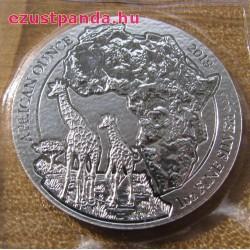 Ruanda Zsiráf 2018 1 uncia ezüst pénzérme