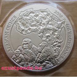 Ruanda Gorilla 2008 1 uncia ezüst pénzérme