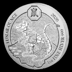 Ruanda Patkány (Egér) éve 2020 1 uncia ezüst pénzérme