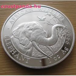 Szomália Elefánt 2018 1 uncia ezüst pénzérme