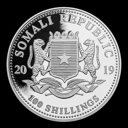 Szomália Leopárd 2019 1 uncia ezüst pénzérme