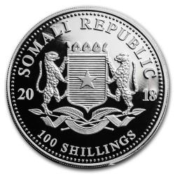 Szomália Leopárd 2018 1 uncia ezüst pénzérme