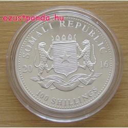Szomália Elefánt 2016 1 uncia ezüst pénzérme