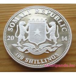 Szomália Elefánt 2014 1 uncia ezüst pénzérme