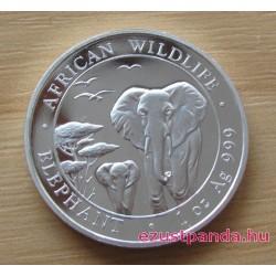 Szomália Elefánt 2015 1 uncia ezüst pénzérme