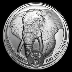 Big Five - Az Öt Nagy - Elefánt 2019 1 uncia ezüst érme Dél-Afrika
