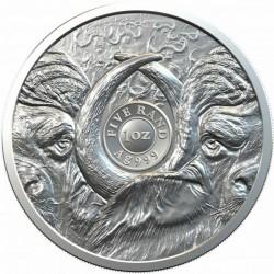 Big Five - Az Öt Nagy - Kafferbivaly 2021 1 uncia ezüst érme Dél-Afrika